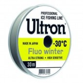 Леска ULTRON Fluo Winter 0,25 мм, 7,0 кг, 30 м, флуоресцентная